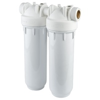 "Aquastream 10"" Duo Water Filter Housing Kit with 15mm Ports"