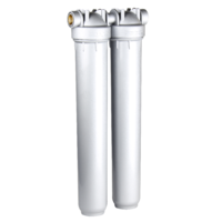 "Aquastream 20"" Duo Water Filter Housing System 3/4"" Ports"